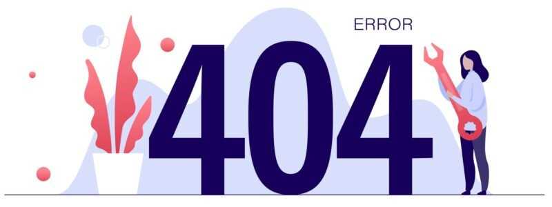Vector illustration of 404 error page not found